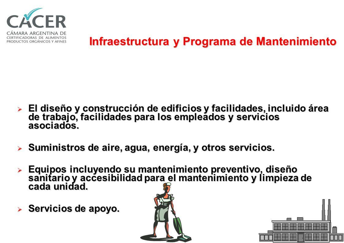 Infraestructura y Programa de Mantenimiento