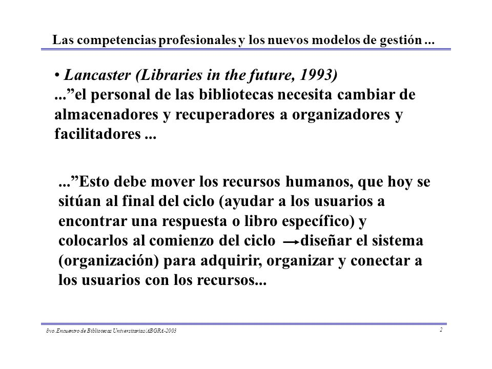 Lancaster (Libraries in the future, 1993)