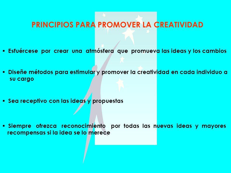 PRINCIPIOS PARA PROMOVER LA CREATIVIDAD