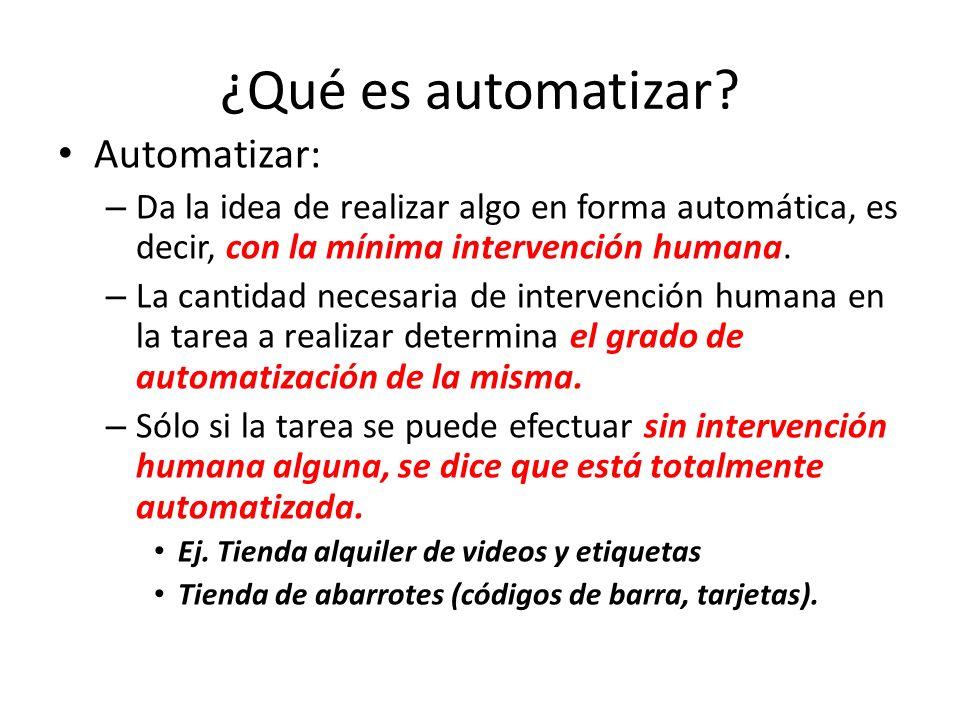 ¿Qué es automatizar Automatizar: