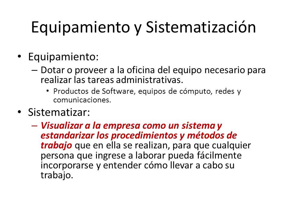 Equipamiento y Sistematización