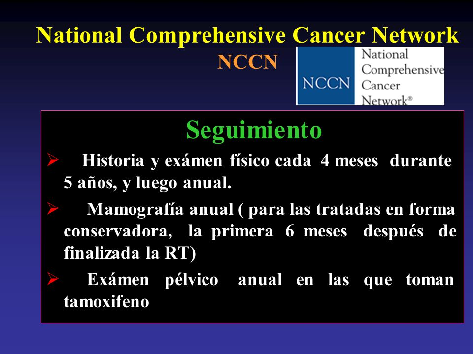National Comprehensive Cancer Network NCCN
