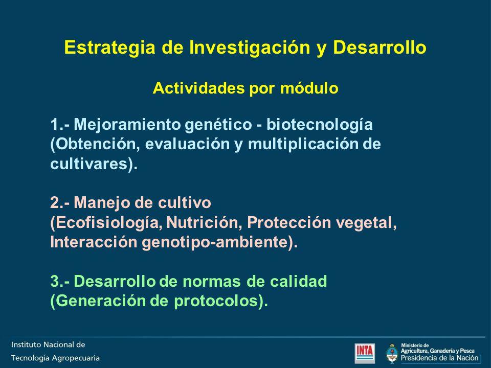 Estrategia de Investigación y Desarrollo Actividades por módulo