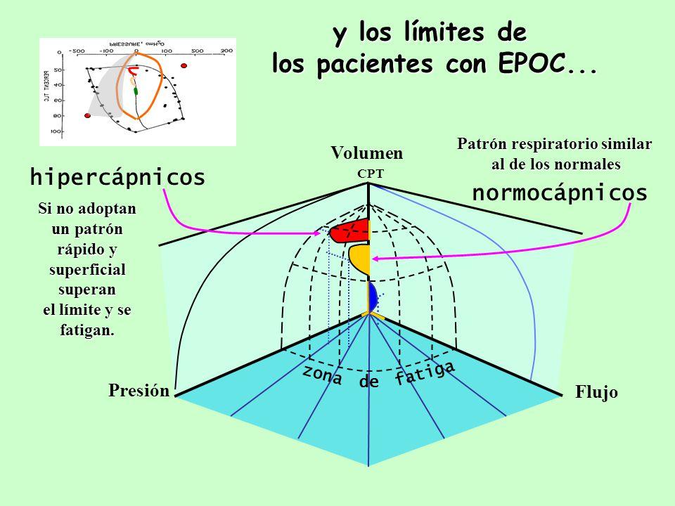 y los límites de los pacientes con EPOC...