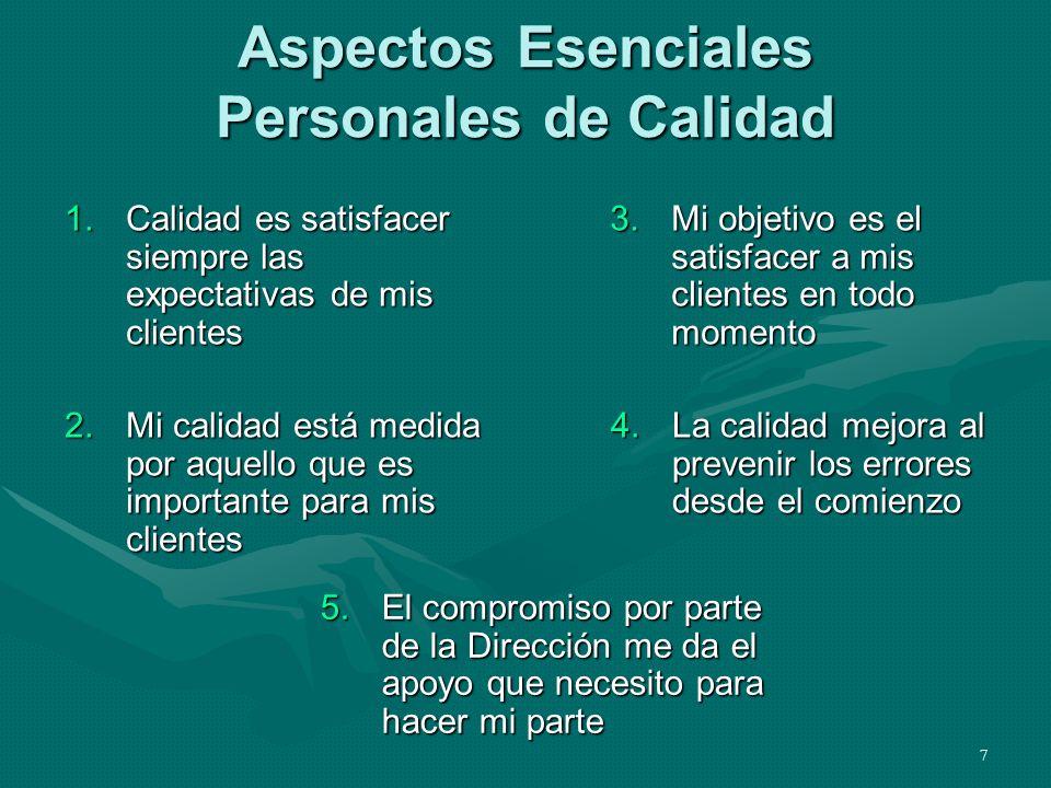 Aspectos Esenciales Personales de Calidad