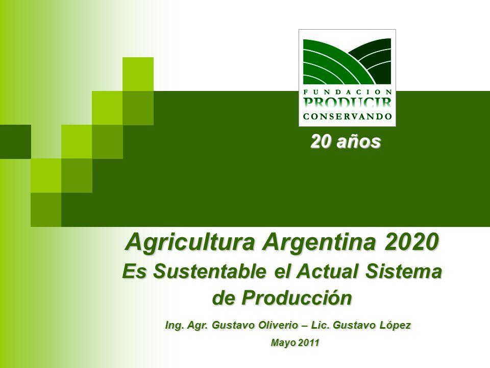 Agricultura Argentina 2020 Es Sustentable el Actual Sistema