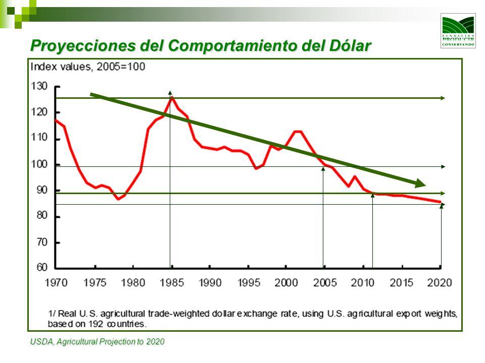 Proyecciones del Comportamiento del Dólar