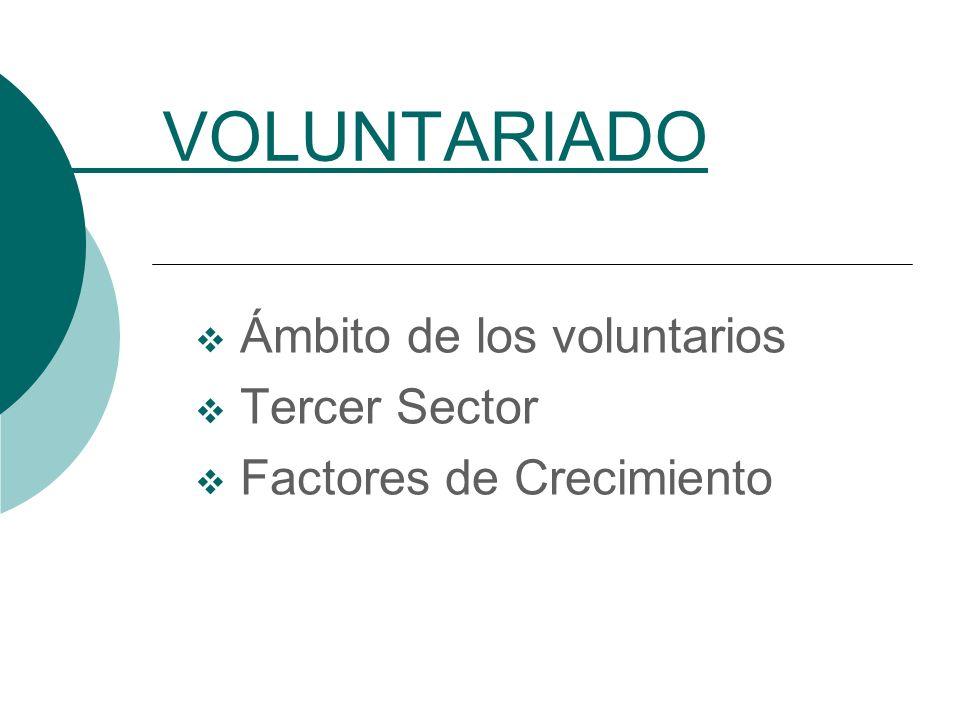 Ámbito de los voluntarios Tercer Sector Factores de Crecimiento