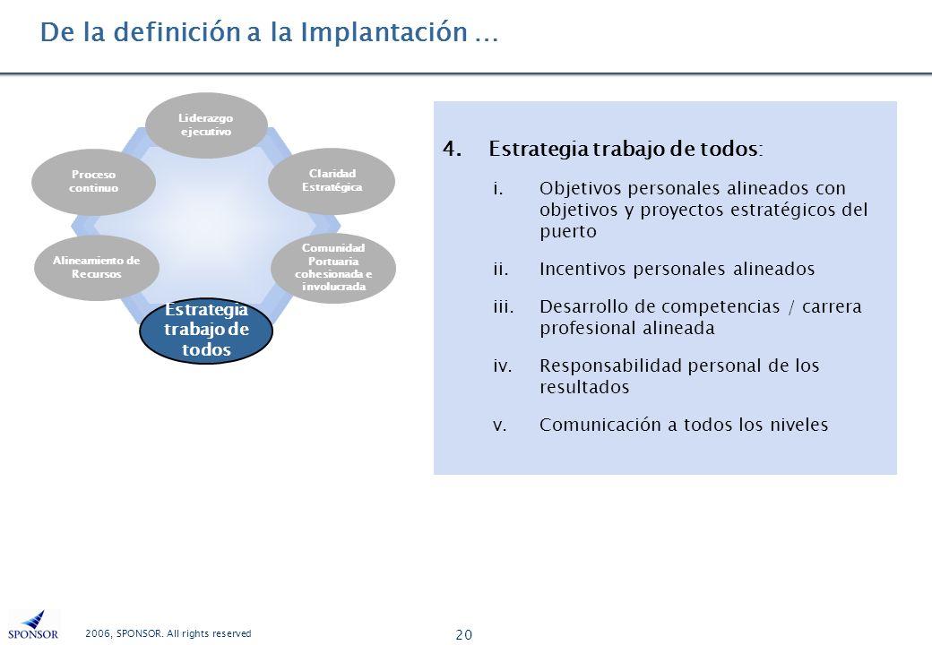 De la definición a la Implantación …