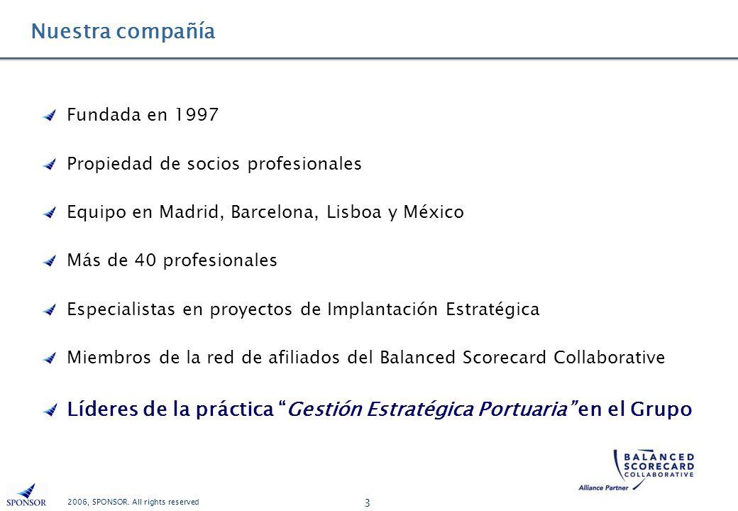 Nuestra compañía Fundada en 1997. Propiedad de socios profesionales. Equipo en Madrid, Barcelona, Lisboa y México.