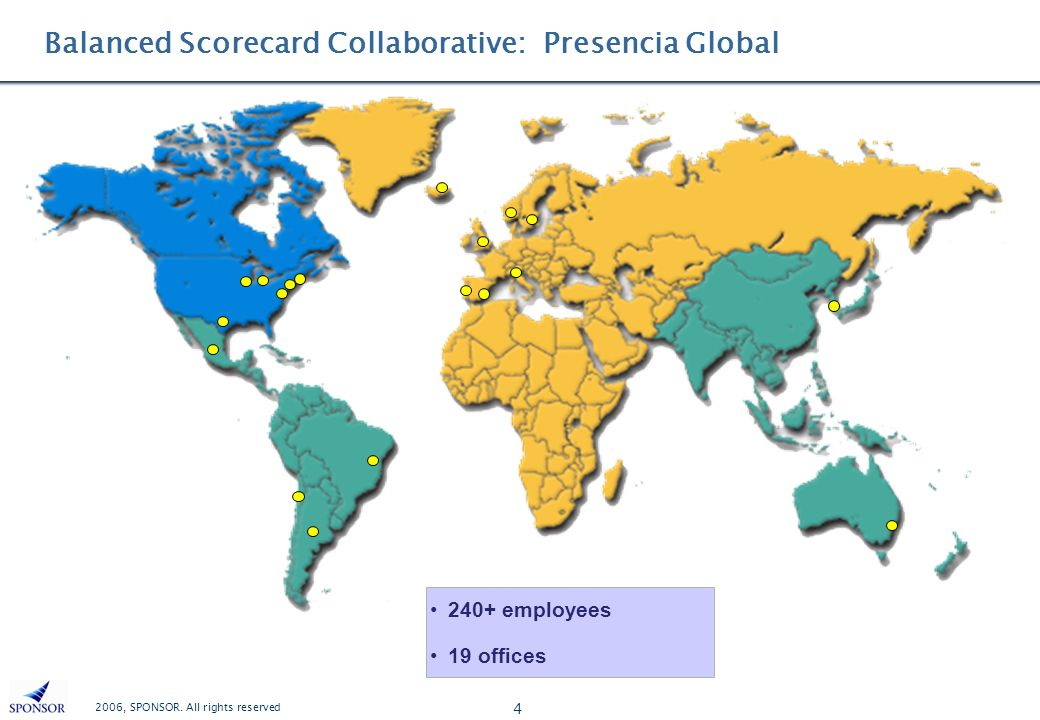 Balanced Scorecard Collaborative: Presencia Global