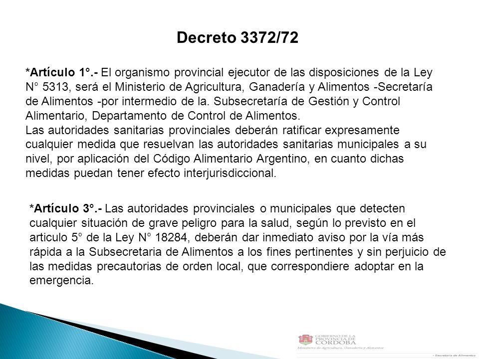 Decreto 3372/72