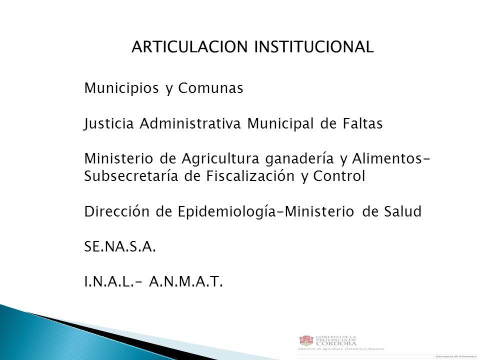 ARTICULACION INSTITUCIONAL