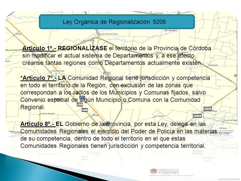 Ley Orgánica de Regionalización 9206