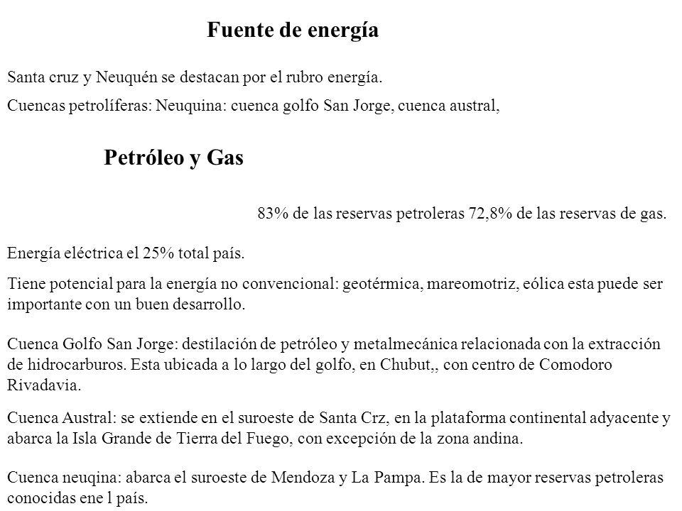 Fuente de energía Petróleo y Gas