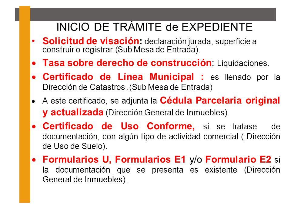 INICIO DE TRÁMITE de EXPEDIENTE