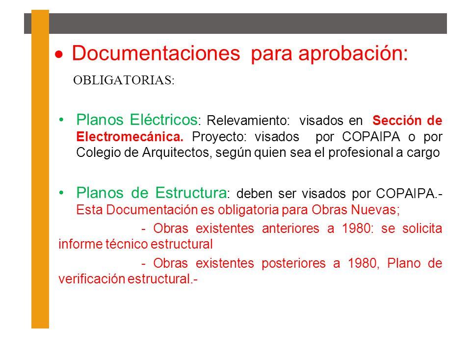 Documentaciones para aprobación: