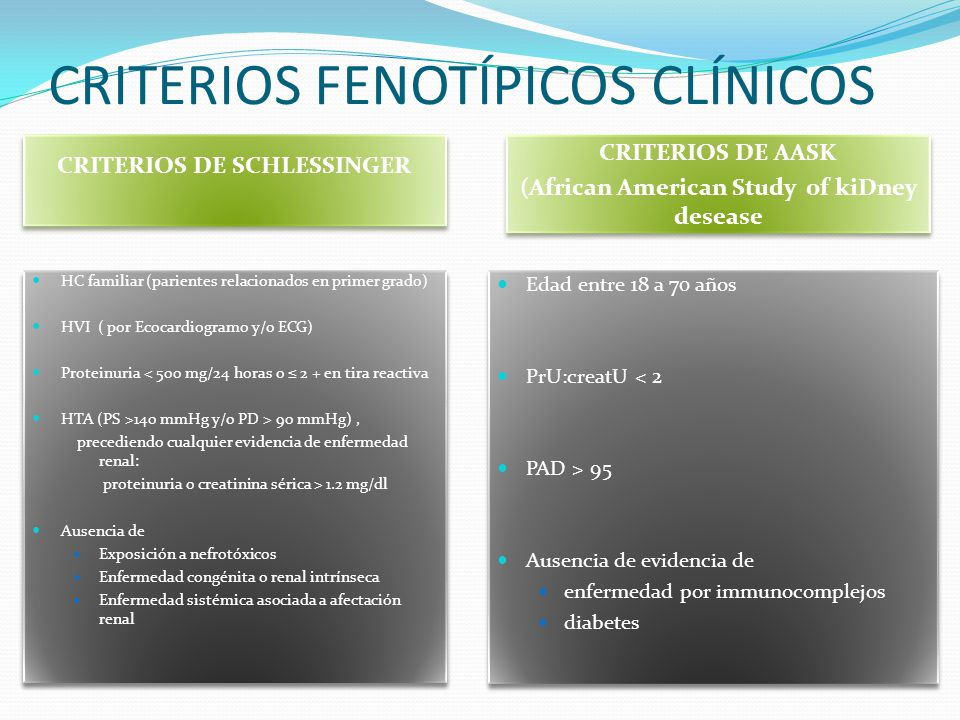 CRITERIOS FENOTÍPICOS CLÍNICOS