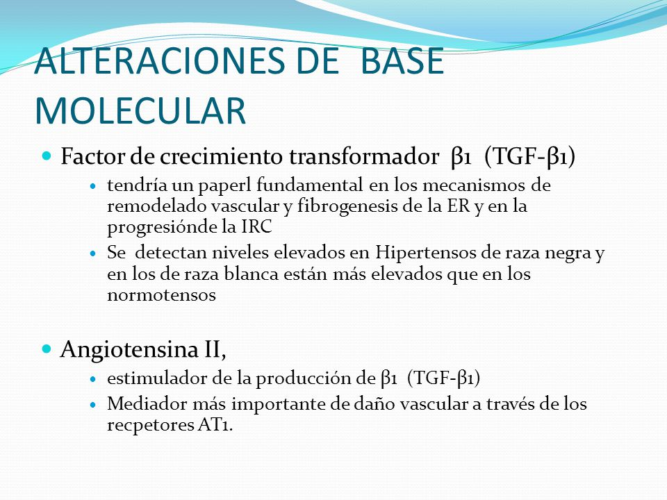 ALTERACIONES DE BASE MOLECULAR