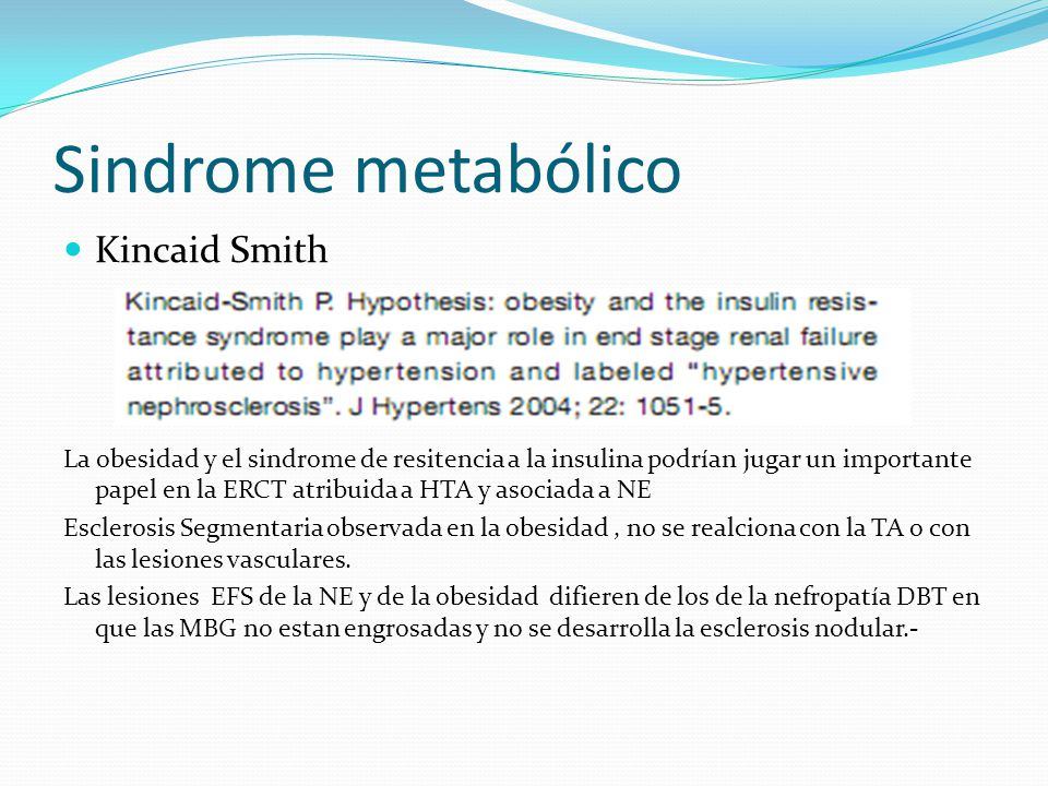 Sindrome metabólico Kincaid Smith