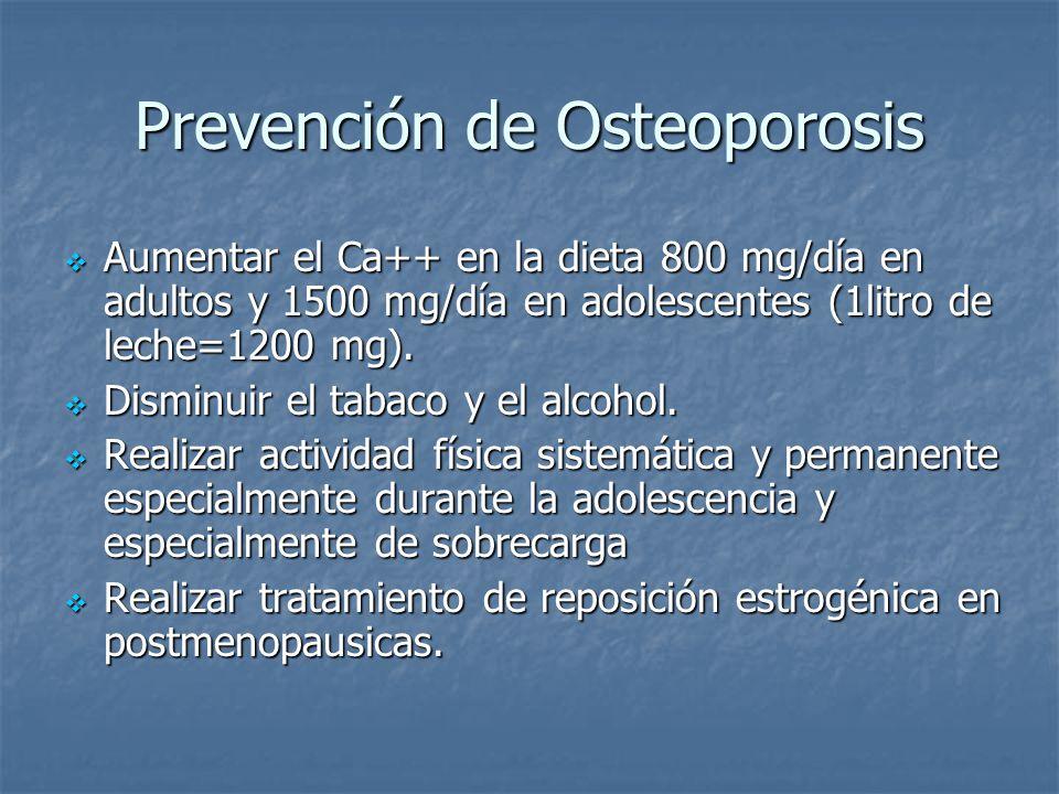 Prevención de Osteoporosis