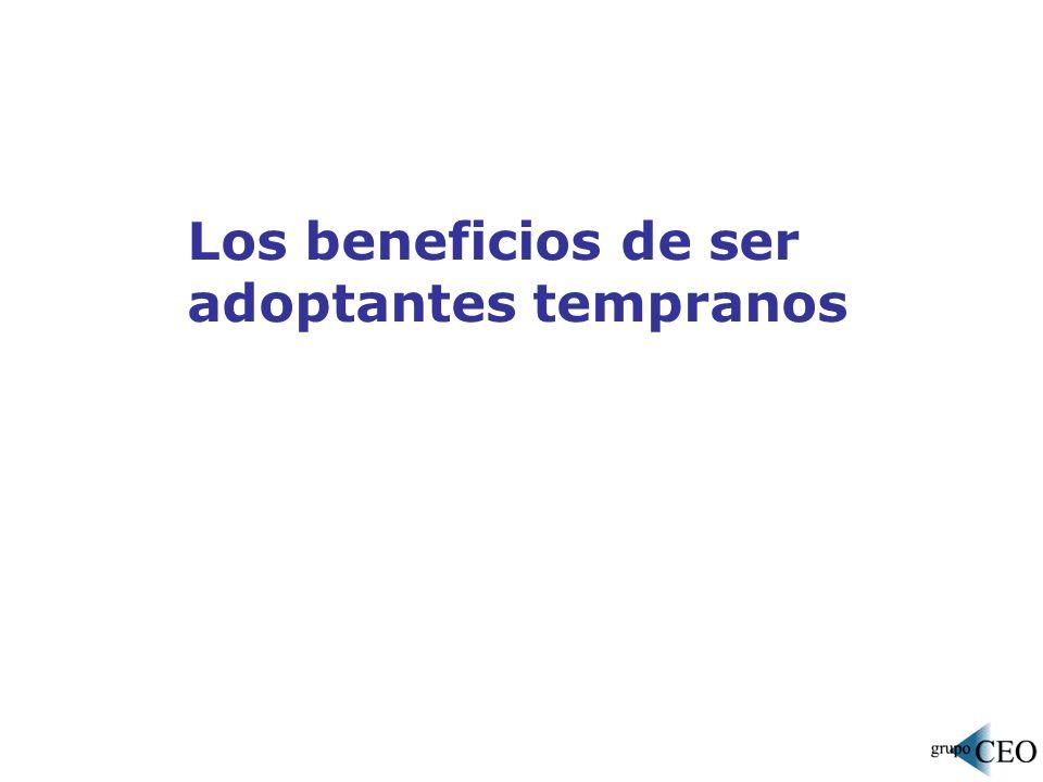 Los beneficios de ser adoptantes tempranos
