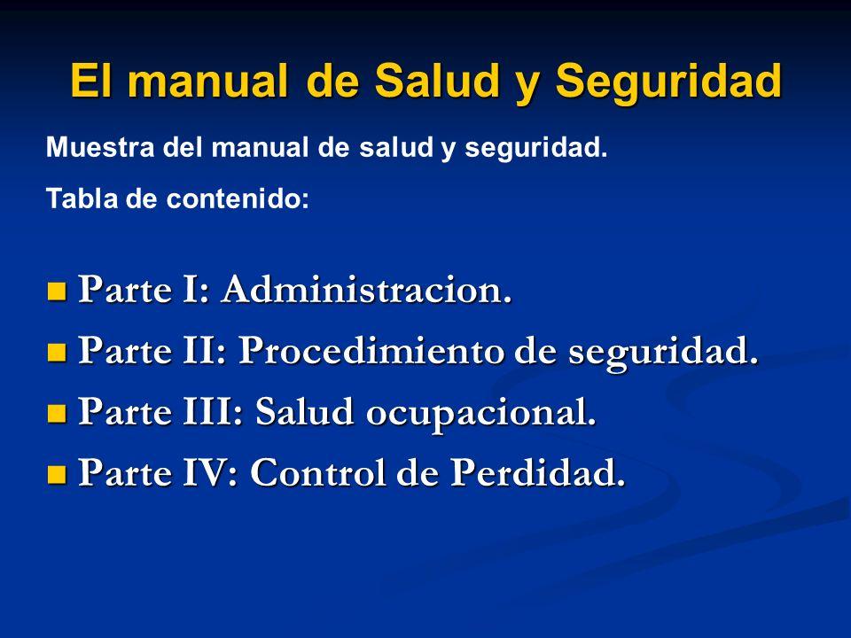 El manual de Salud y Seguridad