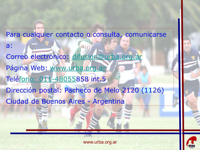 Para cualquier contacto o consulta, comunicarse a: