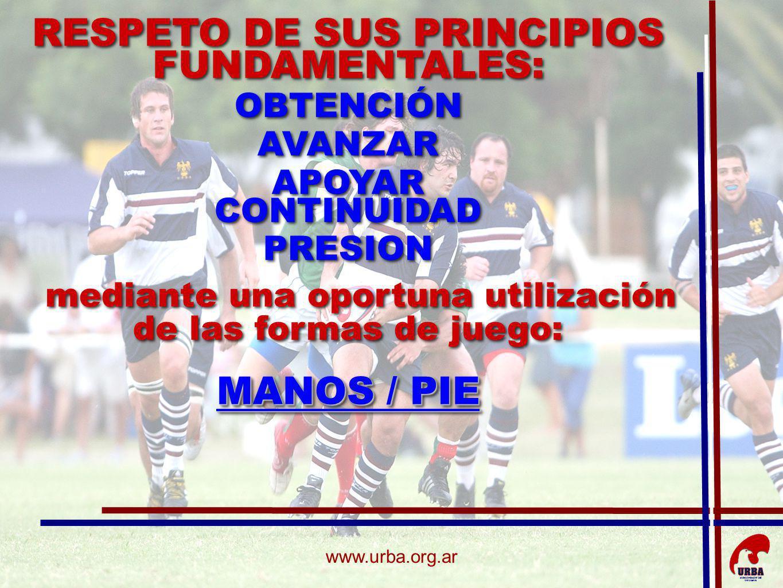 RESPETO DE SUS PRINCIPIOS FUNDAMENTALES: