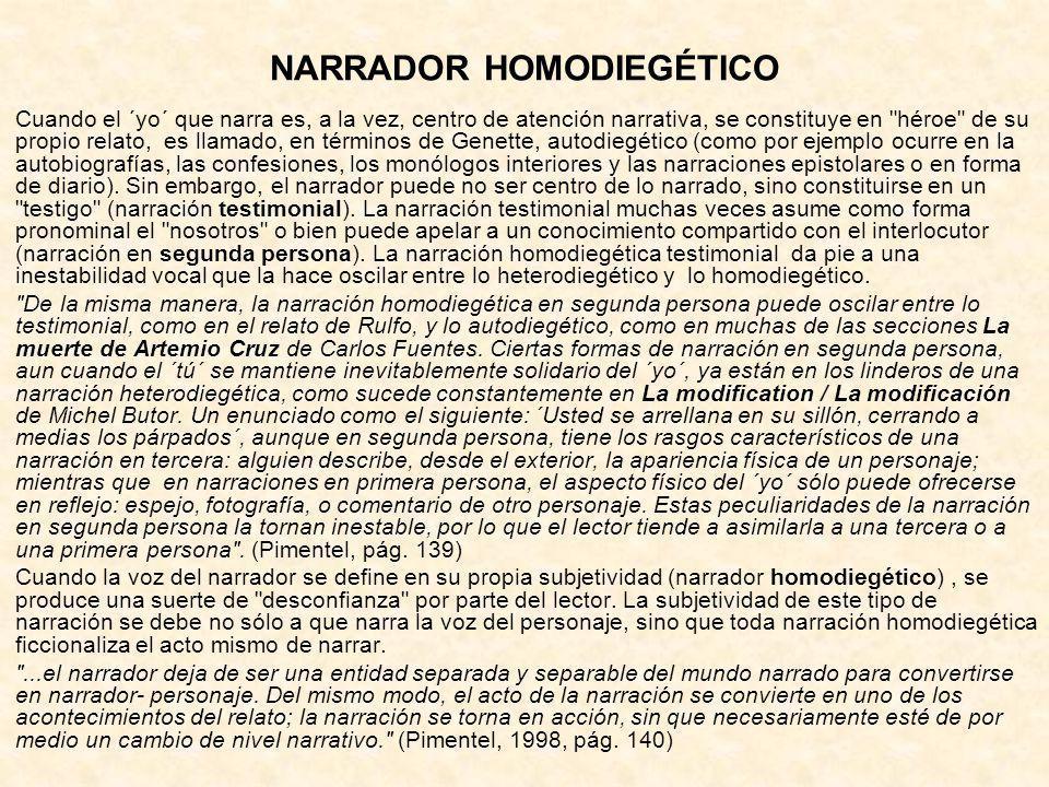 NARRADOR HOMODIEGÉTICO
