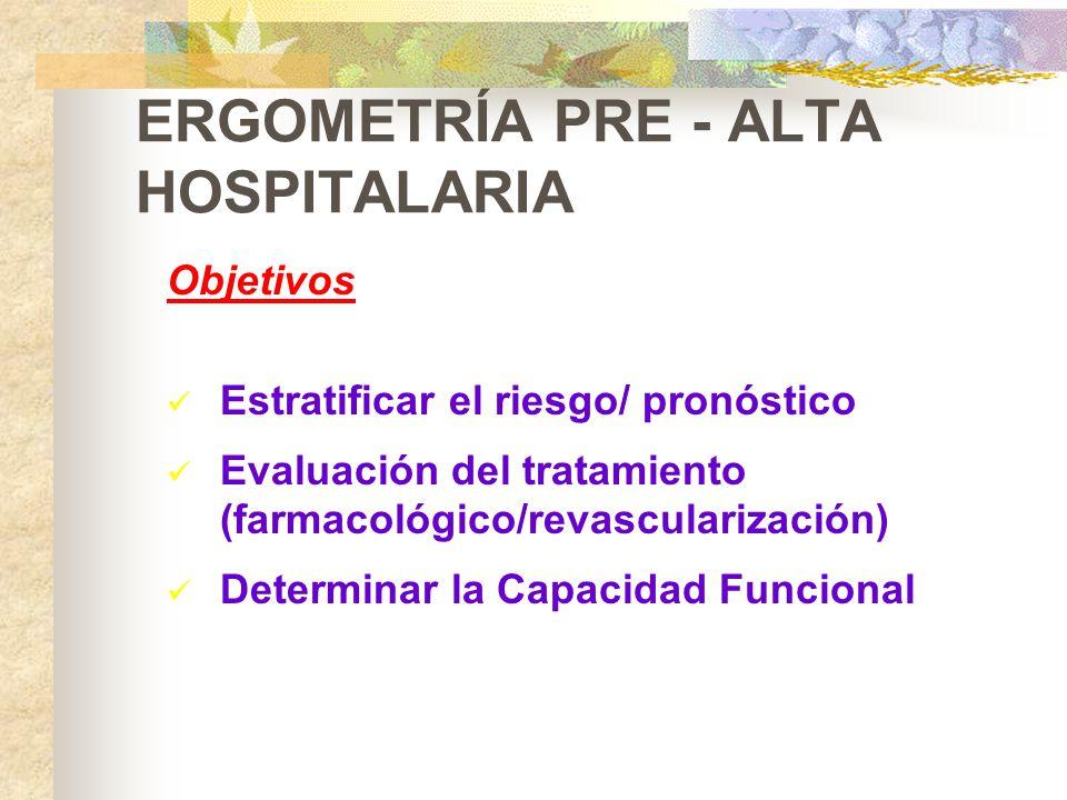 ERGOMETRÍA PRE - ALTA HOSPITALARIA