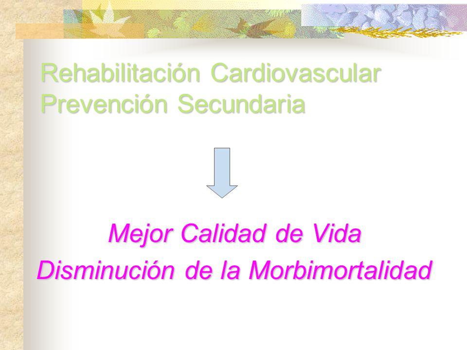 Rehabilitación Cardiovascular Prevención Secundaria