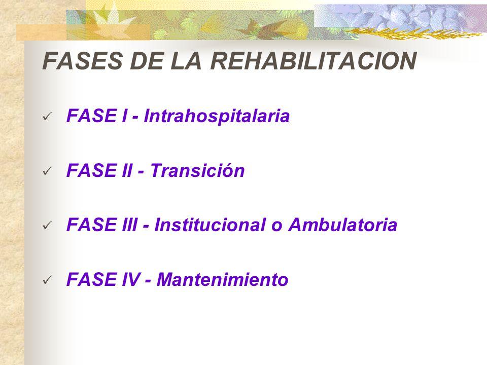 FASES DE LA REHABILITACION