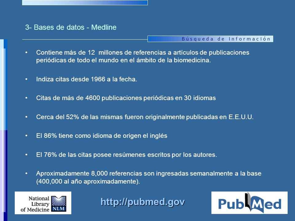 3- Bases de datos - Medline
