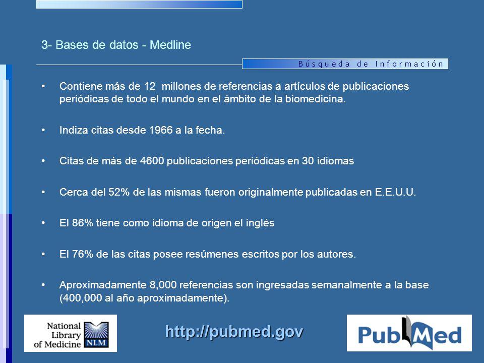 3- Bases de datos - Medline