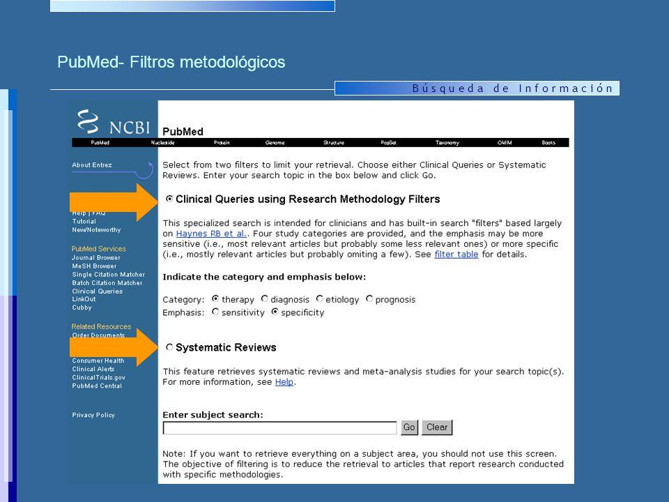 PubMed- Filtros metodológicos