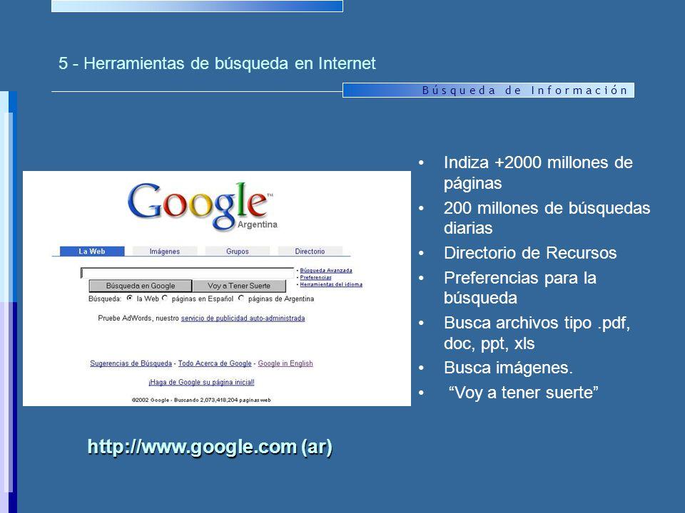 5 - Herramientas de búsqueda en Internet