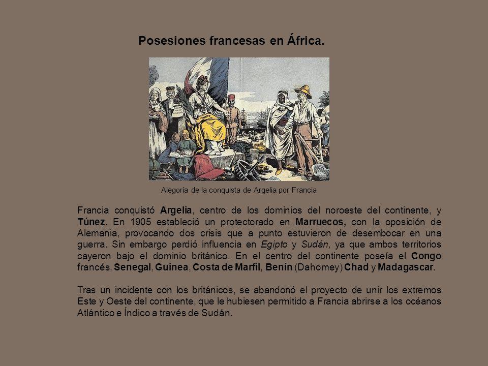 Posesiones francesas en África.
