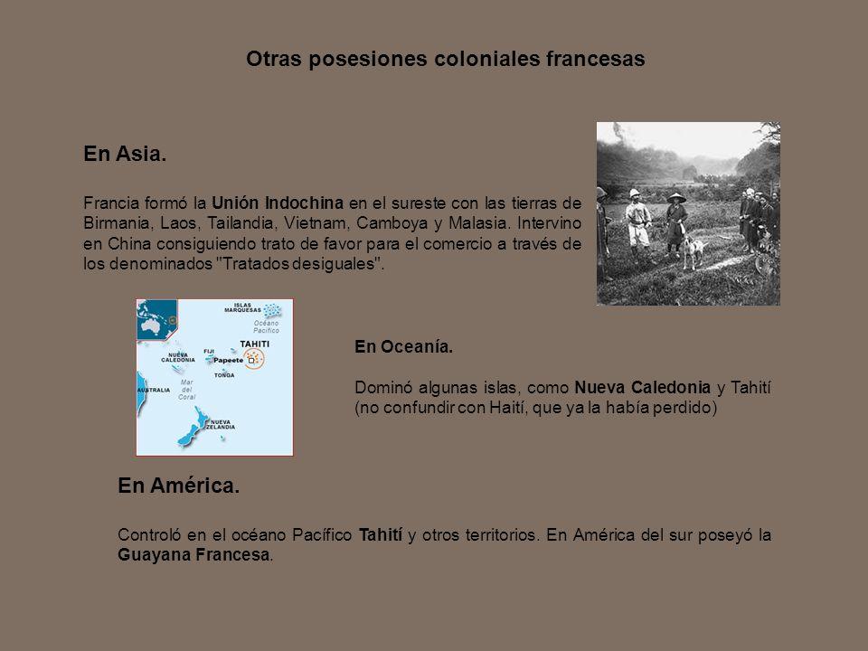Otras posesiones coloniales francesas