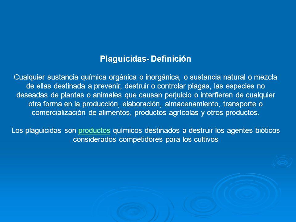 Plaguicidas- Definición