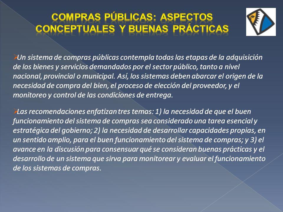 Compras Públicas: aspectos conceptuales y buenas prácticas