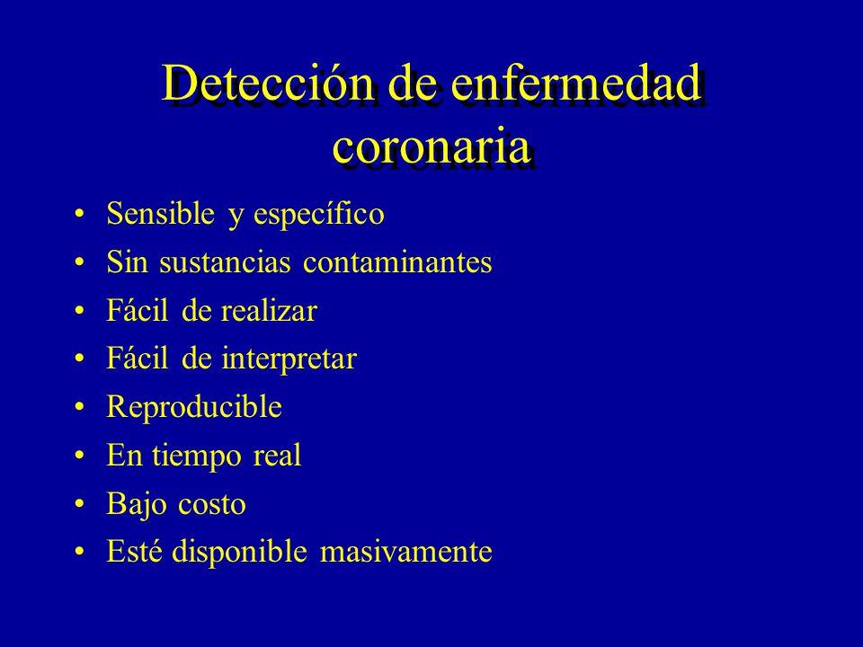 Detección de enfermedad coronaria