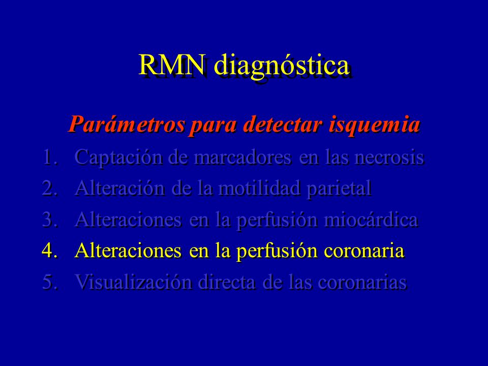 Parámetros para detectar isquemia