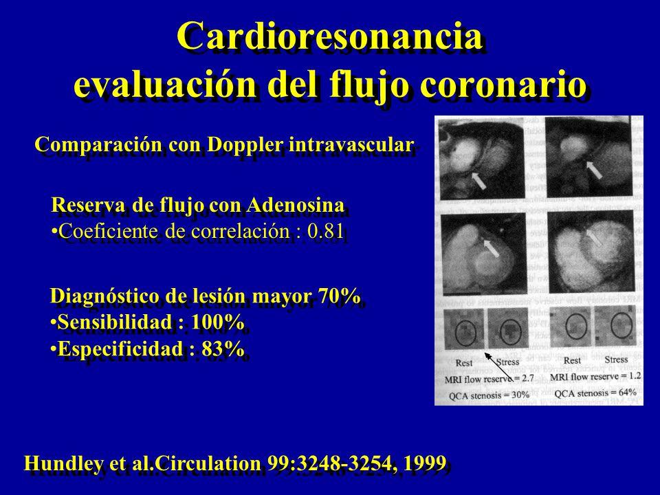 Cardioresonancia evaluación del flujo coronario