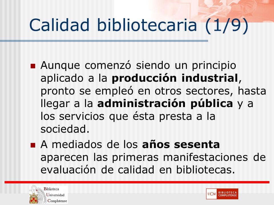 Calidad bibliotecaria (1/9)