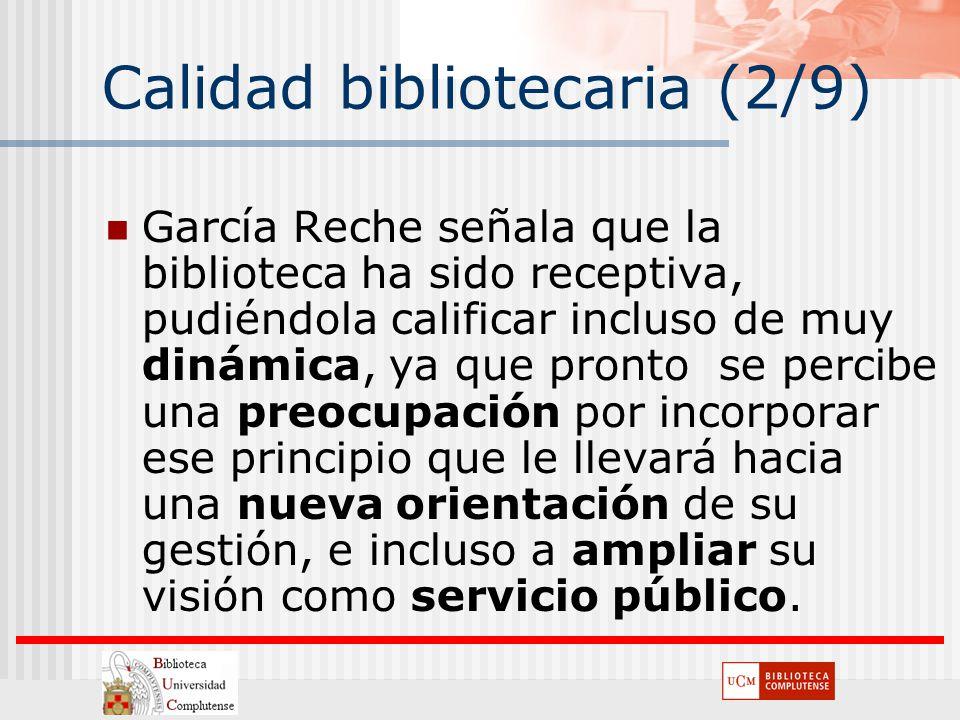 Calidad bibliotecaria (2/9)