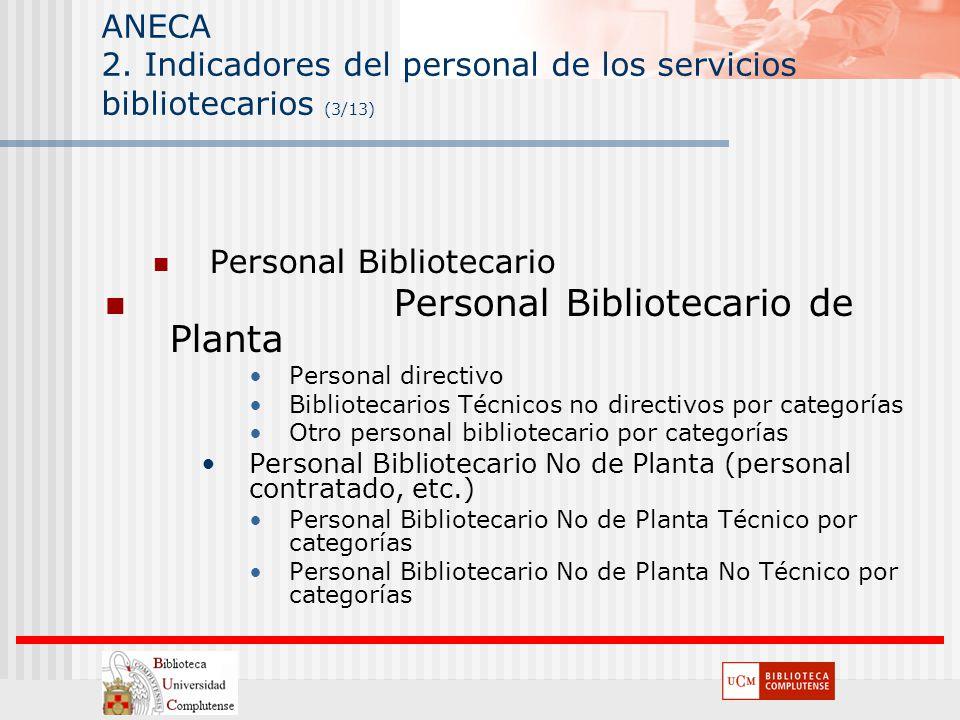 Personal Bibliotecario de Planta