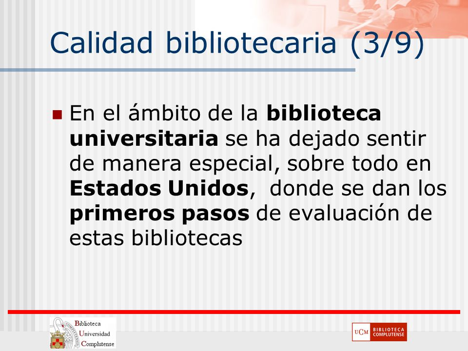 Calidad bibliotecaria (3/9)