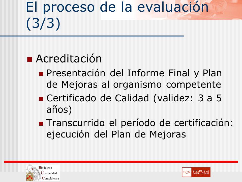 El proceso de la evaluación (3/3)