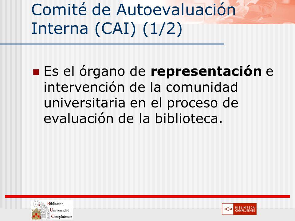 Comité de Autoevaluación Interna (CAI) (1/2)